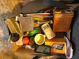 Scale, Old Roland Transistor Radio, Garmin GPS, Brass Eggs