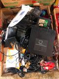 Box of Electronics, Cords, Zire 71 Palm PDA