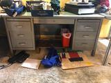 (2) Metal Vintage Desks