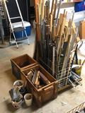 Wood, Pipes, Boxes, Dowels, Angel Iron, More