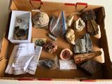 Box of Rocks and Minerals w/ Agates