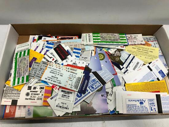 Flat of Old Event Ticket many are Baseball Related