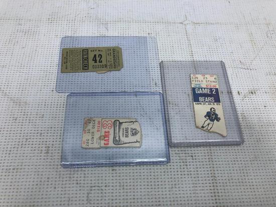 3 Really Old Admission Tickets