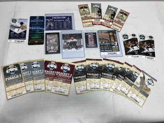 Old Sports Admission Tickets Most are CWS but Some Others