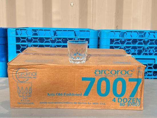 4 Dozen Artic Old Fashioned 8-1/2oz Glasses, 48ct, Cardinal International Arcoroc No. 7007