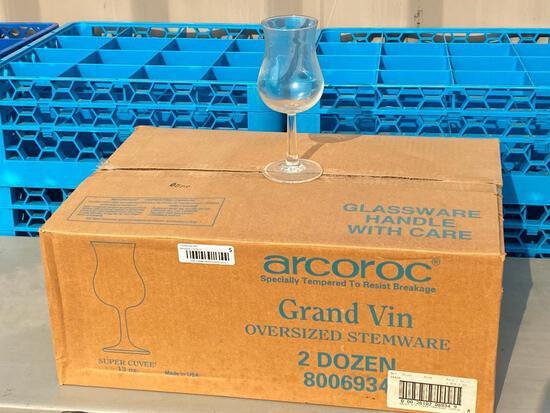 2 Dozen, Grand Vin Oversized Stemware Tulip Glasses, 13oz, Super Cuvee, Arcoroc