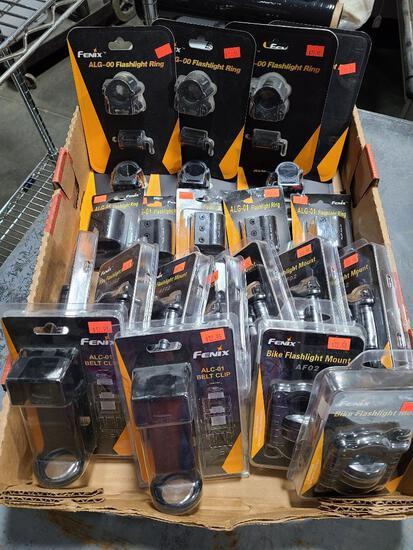 (23) FENIX Flashlight Accessories; Belt Clips, Mounts, etc