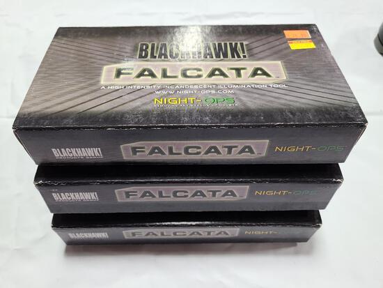 (3) Blackhawk Falcana Night-Ops Flashlights