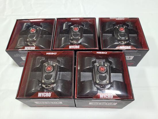 (5) NEBO MYCRO Pocket Flashlights Black