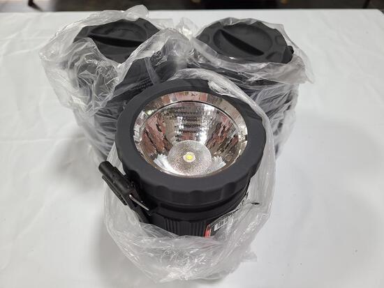 (3) NEBO Poppy Lanterns w/ Case Black