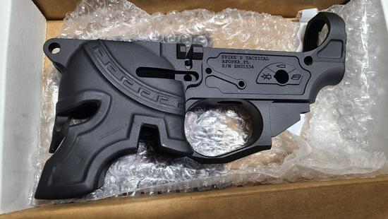 Spike's Tactical Rare Breed Design Billet Lower Receiver Model Spartan Multi Cal Serial # in Photo