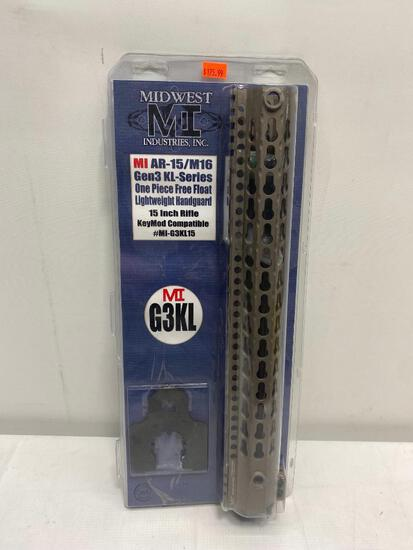 Midwest MI AR-15/M16 GEN3 KL- Series ,15in Rifle Keymod Compatible #MI-G3KL15