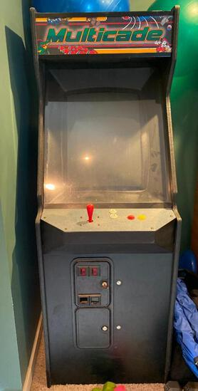 Multicade Classic Coin-Op Arcade Game, 60 Classic Games, Works Great