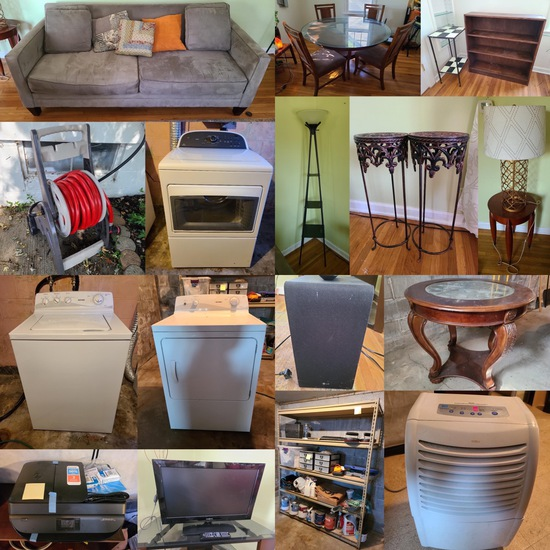 Clean Household 24-Hour Relocation Auction Oct 14