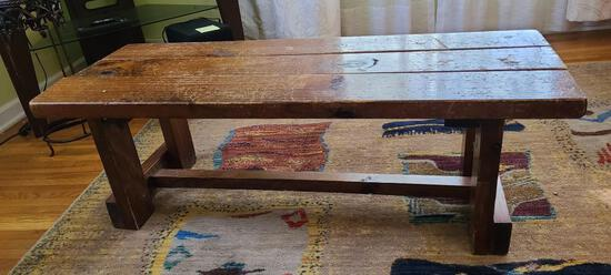 Solid Wood Rustic Coffee Table 45in x 18in x 16in H