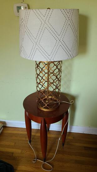 Modern Design Side Table and Lamp