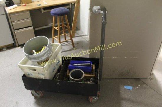 """Heavy Duty Steel Cart w/Sides 24""""x36"""""""