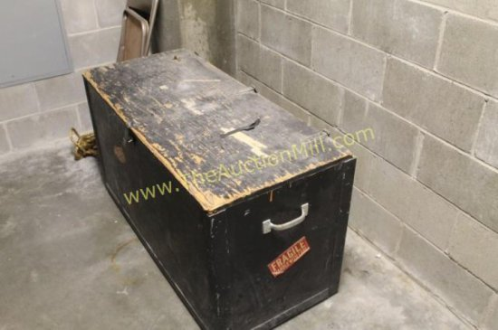 Concert Communications Equipment Large Wooden Storage Crate