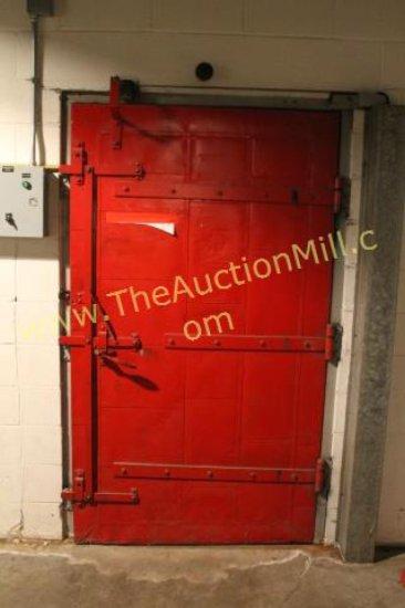 """Industrial Chain Driven Steel Boiler Room Door 48""""x 84"""""""
