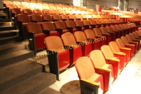 Entire Section Of Art Deco Theater Seats - Music Hall