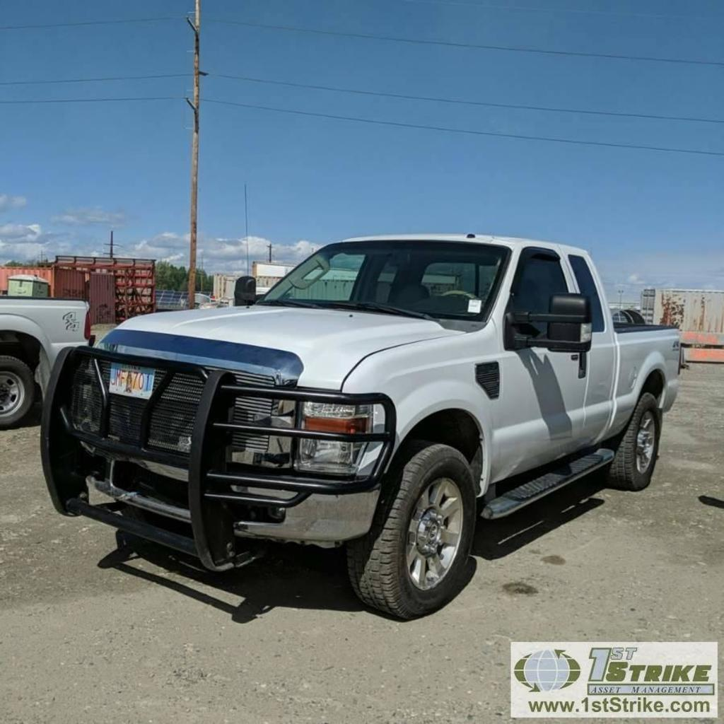 2008 FORD F-250 SUPERDUTY LARIAT, 6.4L POWERSTROKE DIESEL, 4X4, EXTENDED CAB, SHORT BED
