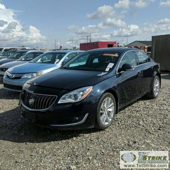 2017 BUICK REGAL, 2.0L ECOTEC TURBO GAS, AWD, 4 DOOR SEDAN. REPO, CLEAN TITLE, STARTS AND RUNS, FRON