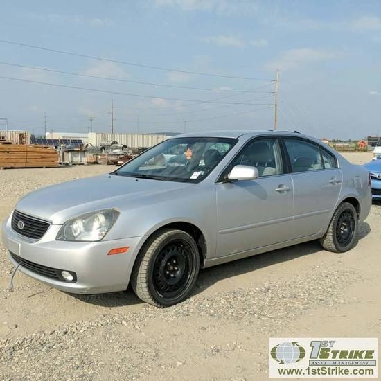 2006 KIA OPTIMA LX, 2.4L GAS, FRONT WHEEL DRIVE, 4 DOOR