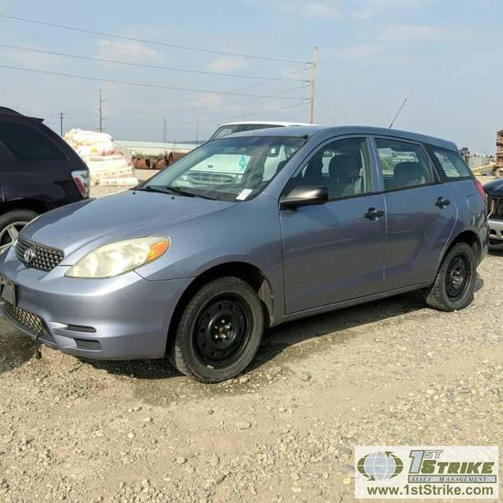 2003 TOYOTA MATRIX, 1.8L GAS, 4WD, 4 DOOR