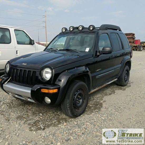 2004 JEEP LIBERTY RENEGADE, 3.7L GAS, 4X4, 4 DOOR