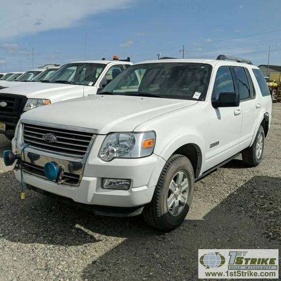2008 FORD EXPLORER XLT, 4.0L GAS, 4X4, 4 DOOR
