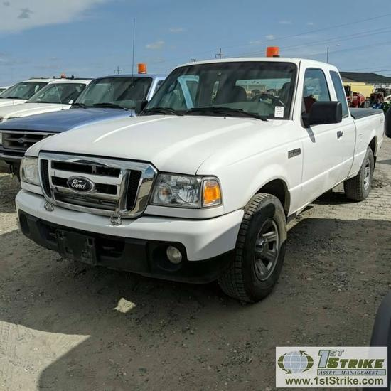 2009 FORD RANGER XLT, 4.0L GAS, 4X4, EXTENDED CAB, BED COVER