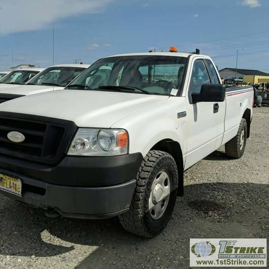 2007 FORD F150 XL, 4.6L TRITON GAS, 4X4, REGULAR CAB, LONG BED