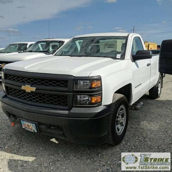 2015 CHEVROLET SILVERADO 1500, 4.3L, 4X4, SINGLE CAB, LONG BED