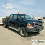 1999 FORD F-350 SUPERDUTY XL, 7.3L POWERSTROKE DIESEL, 4X4, CREW CAB, SERVICE BED, VICE. UNKNOWN MEC