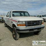 1997 FORD F-350 XL, 7.3L POWERSTROKE DIESEL, 4X4, CREW CAB, LONG BED
