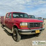 1997 FORD F-350 XL, 7.3L POWERSTROKE DIESEL, 4X4, CREW CAB, SERVICE BED