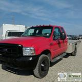 1999 FORD F-350 SUPERDUTY XL, 7.3L POWERSTROKE DIESEL, 4X4, DUALLY, EXTENDED CAB, FLAT BED