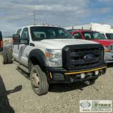 2012 FORD F-550 SUPERDUTY XL, CAB AND CHASSIS, 6.7L POWERSTROKE DIESEL, 4X4, DUALLY, CREW CAB.