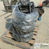 ATV PARTS, INCLUDING: SKID PLATE, PUSH BAR, WHEELS WITH TIRES