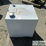 FUEL TANK, 50GAL, DELTA CONSOLIDATED MODEL 485000, STEEL CONSTRUCTION