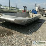 AIRBOAT HULL, ALUMITECH 22FT, 8FT BEAM, ALUMINUM CONSTRUCTION, NOSE RAMP