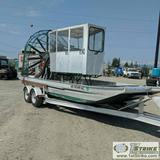 AIRBOAT, 2005 PANTHER, GM 502 MOTOR, TRUE PANTHER COUNTER ROTATION, 7GPH BURN, HIN:PA P008A900, WITH