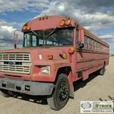 BUS, 1988 FORD THOMAS, 7.0L GAS ENGINE, MANUAL TRANSMISSION