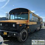 BUS, 1989 CHEVROLET THOMAS, 8.2L DETROIT DIESEL, AUTOMATIC TRANSMISSION, WITH CAGE