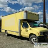 BOX VAN, 1993 FORD E-350, 7.5L GAS, 15FT BOX WITH RAMP, AUTOMATIC TRANSMISSION, DUALLY
