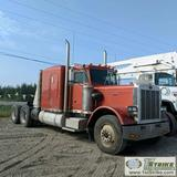 SEMI TRACTOR, 1987 PETERBILT 379, CAT 3406B EATON FULLER MANUAL TRANSMISSION, WITH WET KIT, SLEEPER