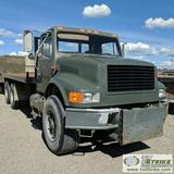 1991 INTERNATIONAL 49000 6X4 FLAT BED, 6CYL DIESEL ENGINE, AUTOMATIC TRANSMISSION, 8FT 6IN BED