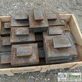2 PALLETS. VERTICAL SHAFT IMPACT CRUSHER ANVILS AND PARTS