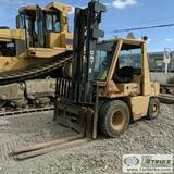 FORKLIFT, CAT V80E, PERKINS GAS ENGINE, 8000LB CAPACITY, 173IN LIFT HEIGHT