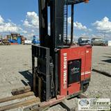 FORKLIFT, PRIME MOVER MODEL RR45, ELECTRIC STAND UP, 4500LB CAPACITY, 36 VOLT, 198IN LIFT HEIGHT